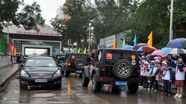 越南芒街-中国东兴跨境自驾游项目试开通