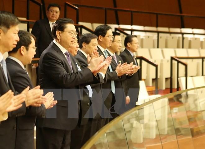 中国全国人大常委会委员会张德江旁听越南第十四届国会第二次会议