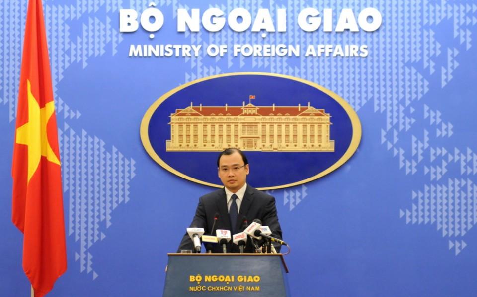越南反对一切侵犯越南主权的行为