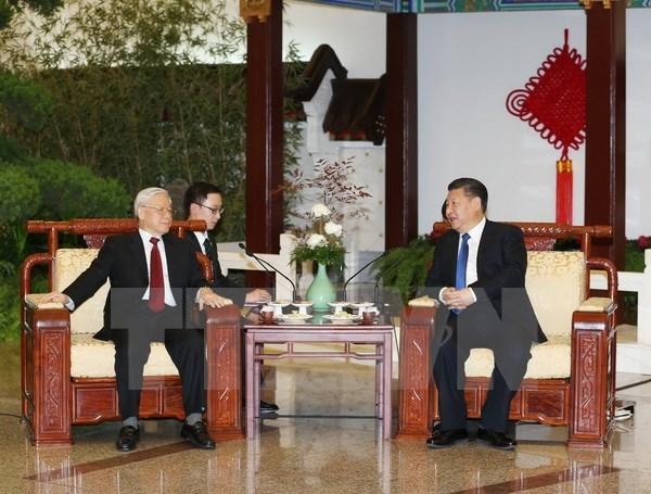 越共中央总书记阮富仲致电感谢中共中央总书记、中国国家主席习近平