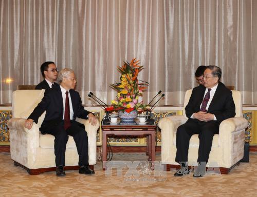 越共中央总书记阮富仲会见中国人民政治协商会议全国委员会主席俞正声
