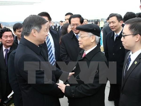 越共中央总书记结束正式访华之行
