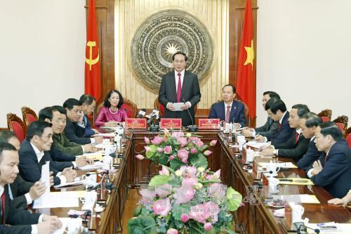 国家主席陈大光与清化省领导举行工作座谈会
