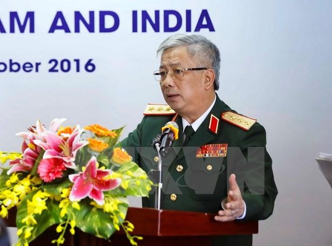 国防部副部长阮志咏上将会见以色列军事工业集团董事长
