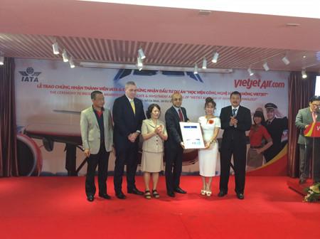 越捷航空正式成为国际航空运输协会会员