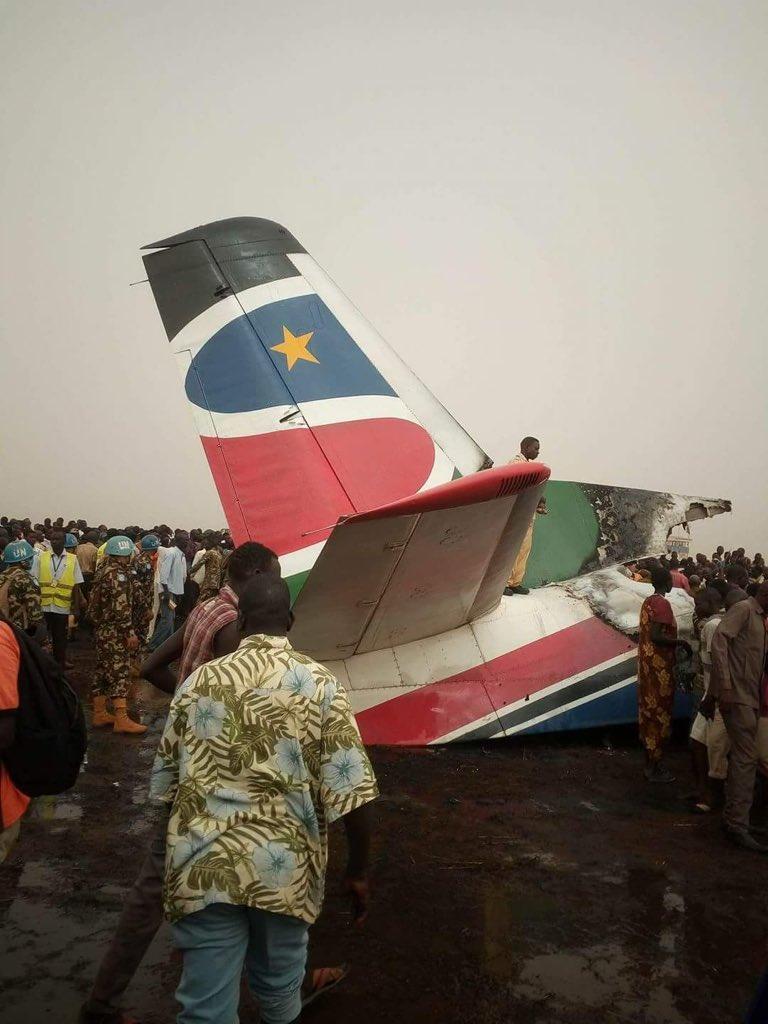 南苏丹一架小型客机着陆时失事