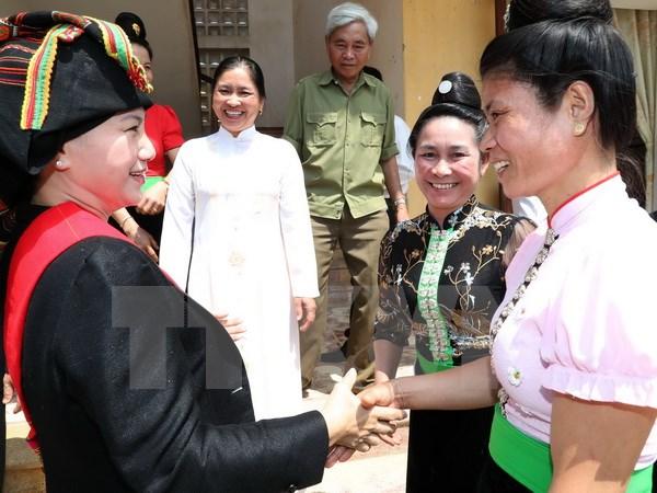 国会主席阮氏金银赴奠边省西庄国际口岸调研