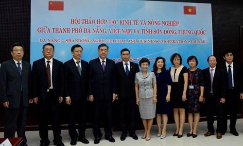 越南岘港市与中国山东省展开经济和农业领域合作