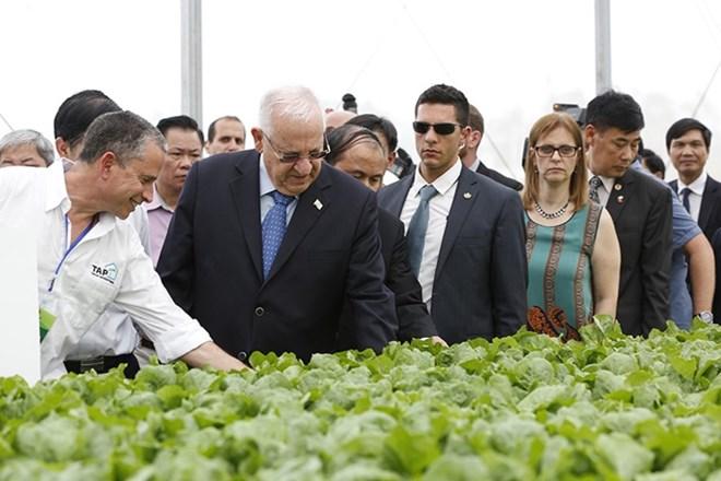 以色列总统参观永福省三岛高新技术农业应用投资项目