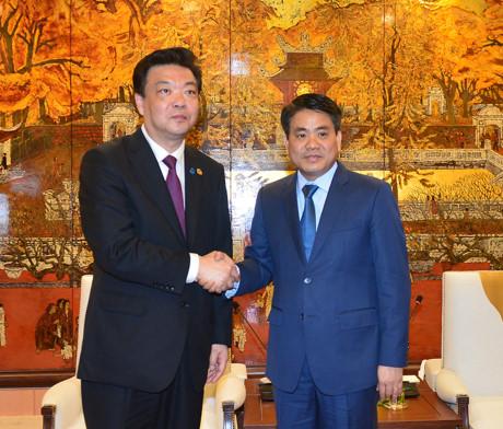 河内市领导会见中国北京市政协代表团