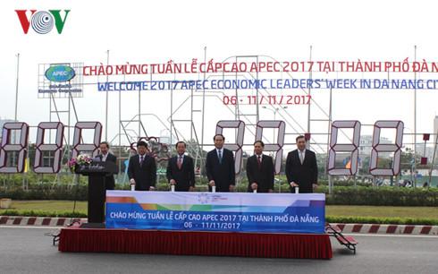 国家主席陈大光按钮启动庆祝2017APEC年倒计表