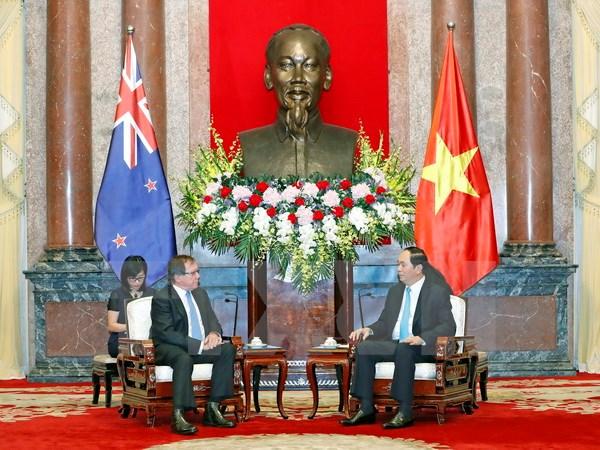 越南国家主席陈大光会见新西兰外交部长默里·麦卡利