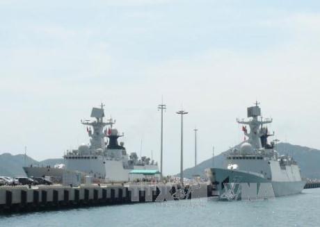 中国海军军舰访问越南胡志明市