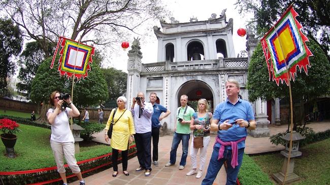 赴河内市旅游的国际游客量继续走高