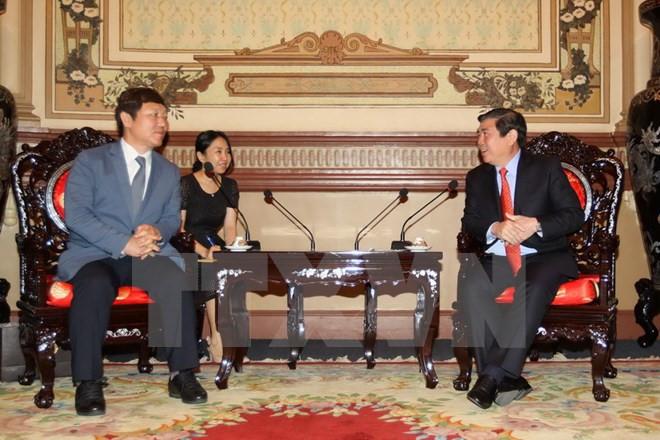 胡志明市希望与韩国促进教育培训领域合作