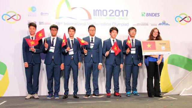 越南在2017年国际数学奥林匹克竞赛中获得史上最好成绩