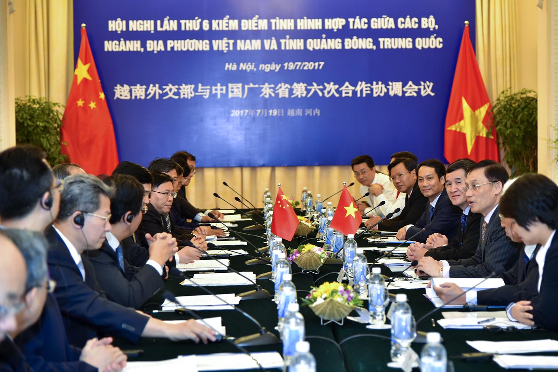 越南外交部与中国广东省第六次合作协调会议在河内召开