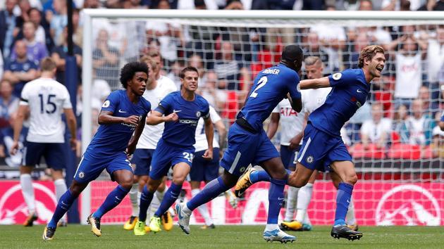 英超: 切尔西2-1客胜热刺