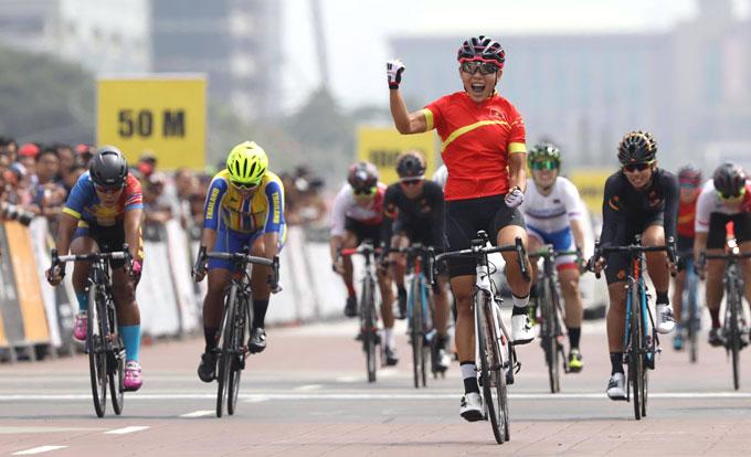 阮氏实夺得自行车赛金牌 越南体育代表团排名反超泰国