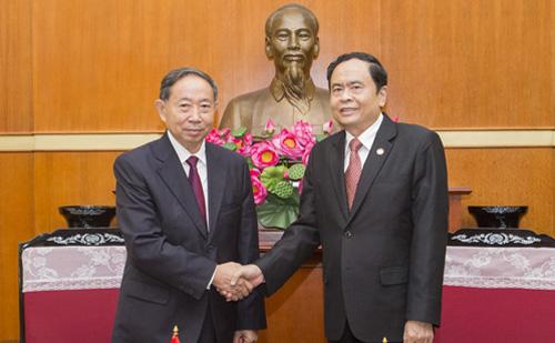 越南祖国阵线与中国全国政协加强合作关系