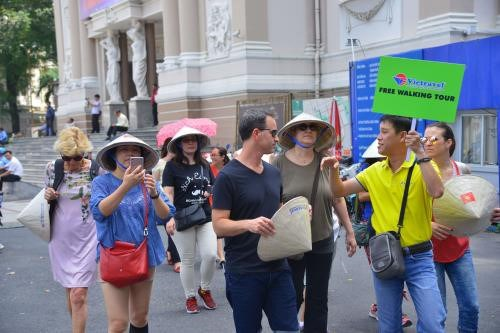 河内向外国游客推出免费参观旅游线