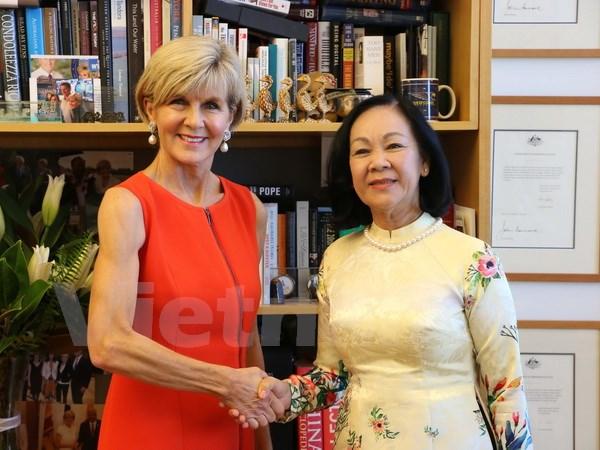 越共中央民运部长张氏梅对澳大利亚进行工作访问