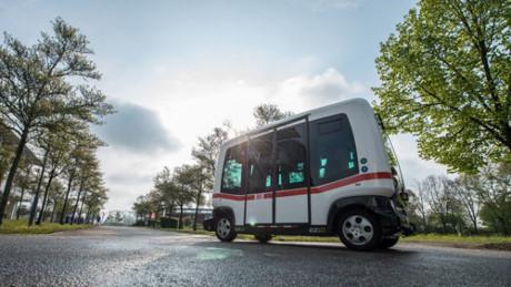 德国首辆自动驾驶公交车投入运营