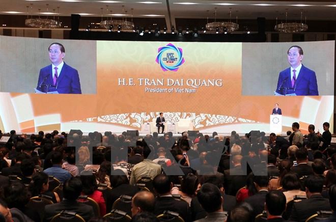 陈大光主席出席2017年APEC工商界领导人峰会开幕式并发表演讲
