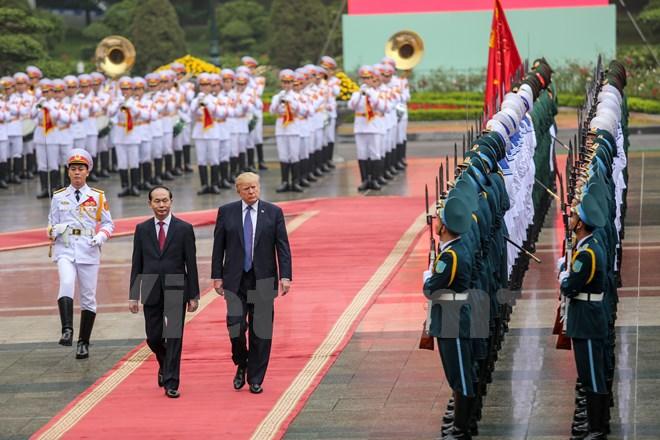 美国总统唐纳德•特朗普访越之行回顾