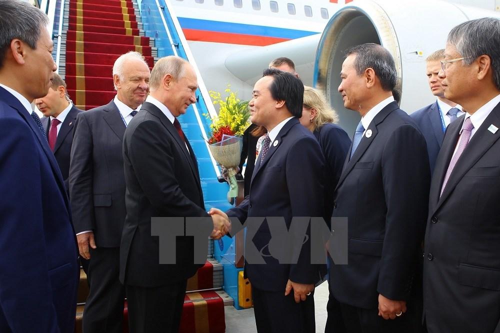 各国元首抵达岘港 出席 2017年APEC领导人会议