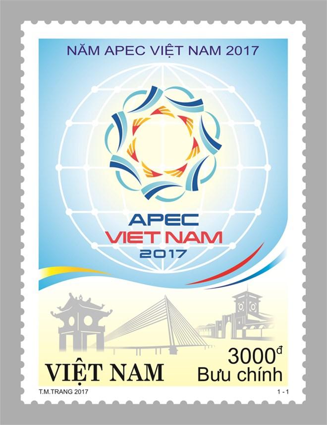 """""""喜迎2017越南APEC年""""特殊邮票正式发行"""