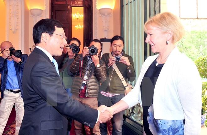 瑞典希望进一步发展瑞越传统友好与合作关系