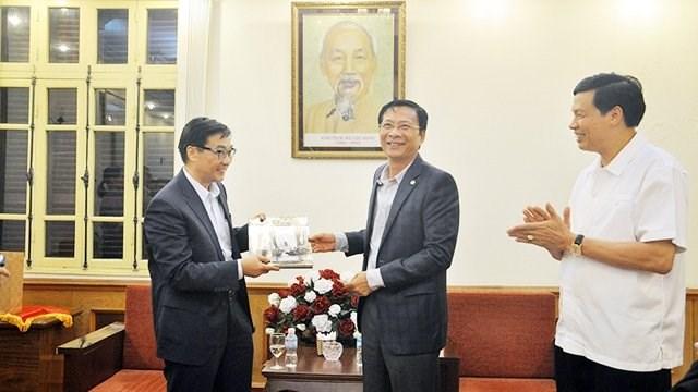 广宁省领导一向支持外国投资商前来投资兴业