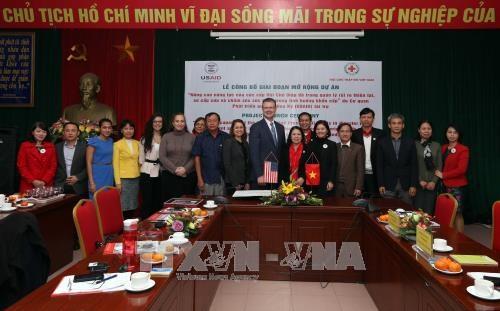 美国协助越南红十字会提高灾害风险管理能力