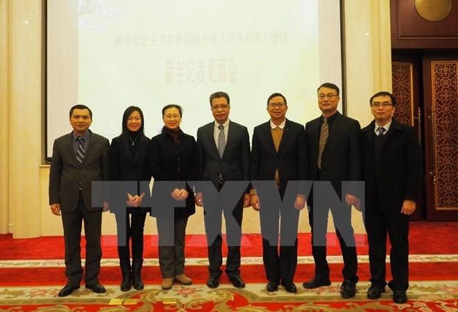 越南驻中国大使邓明魁与中国媒体会晤