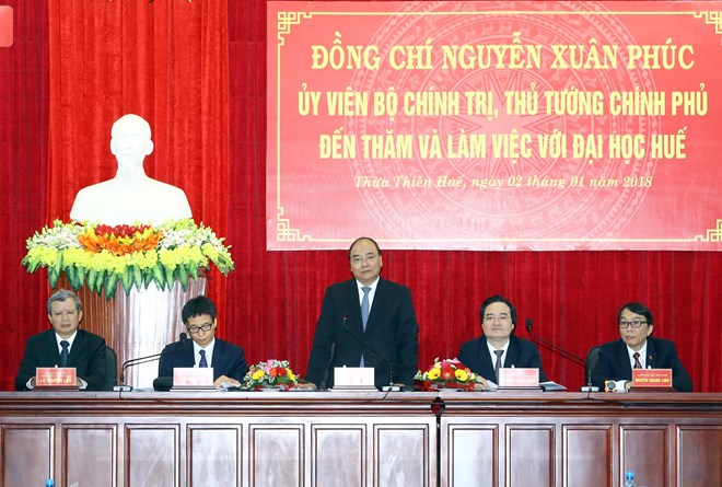 政府总理阮春福:顺化大学应采用国际教育标准面向世界培养创新型人才