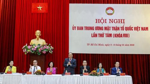 政府总理阮春福出席第八届越南祖国阵线中央委员会第八次会议