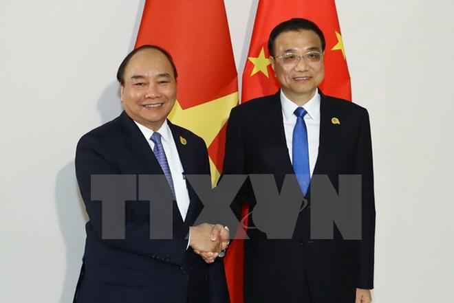 政府总理阮春福会见中国国务院总理李克强