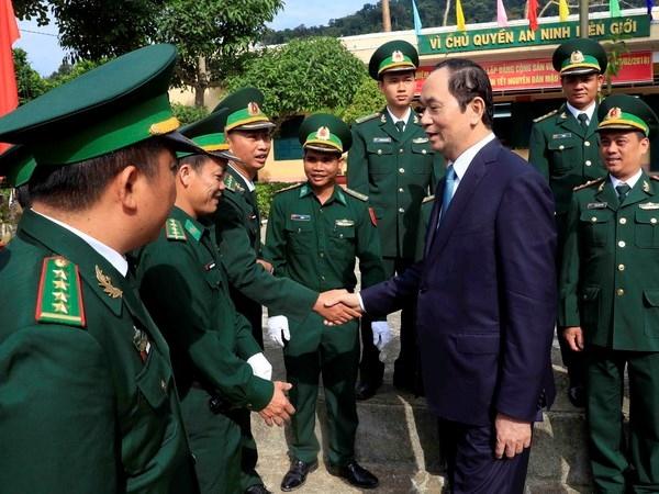 国家主席陈大光走访昆嵩省
