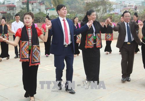 国会副主席丛氏放与山罗省人民共度春节