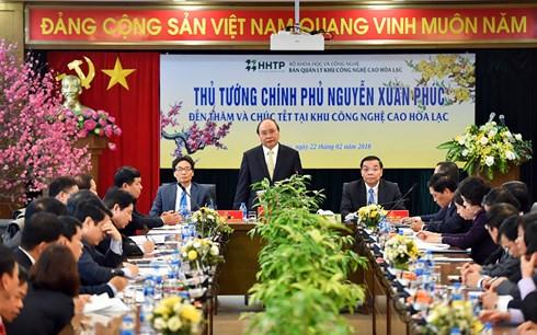 阮春福总理:和乐高新技术园区将是河内最佳创业区和增长极