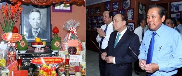 政府总理阮春福敬香缅怀已故原国家和政府领导人