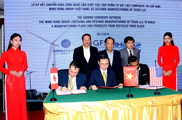 越南和美国企业合作制造再生复合材料制品