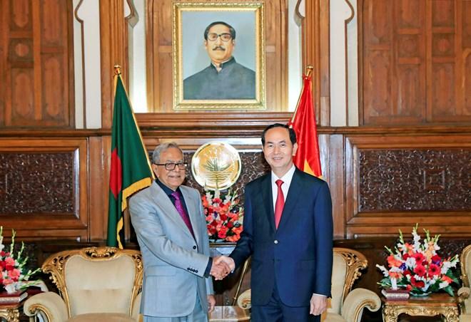 国家主席陈大光会见孟加拉国总统阿卜杜勒•哈米德