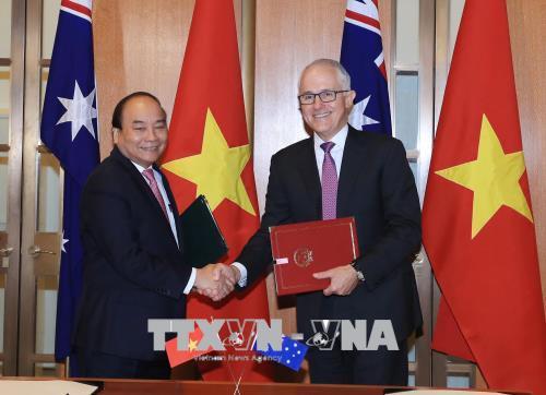 澳大利亚媒体大量报道有关越南政府总理阮春福访澳的新闻