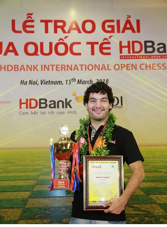 2018年HDBank国际象棋公开赛第9轮:阿根廷棋手登顶