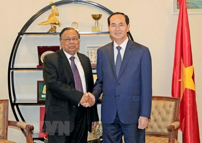 国家主席陈大光会见孟加拉国外长