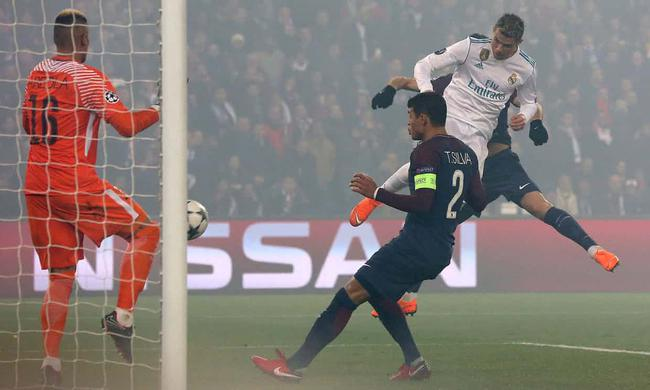 欧冠-C罗传射+中柱 皇马客场2-1双杀巴黎晋级8强