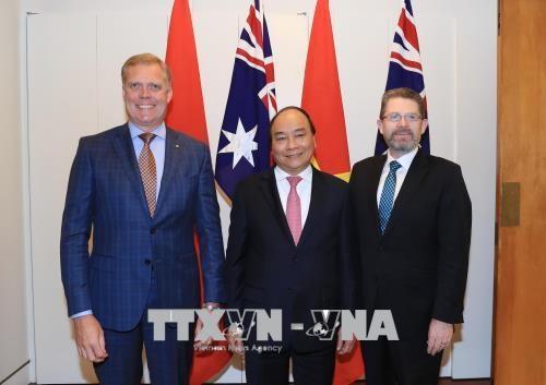 政府总理阮春福会见澳大利亚参众两院议长