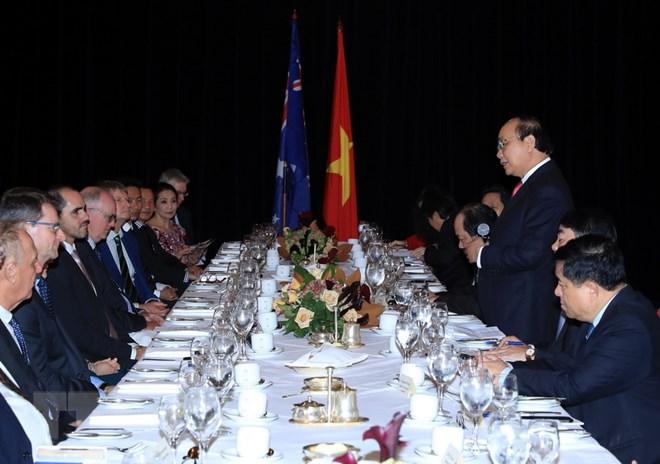 政府总理阮春福与澳大利亚企业代表会面